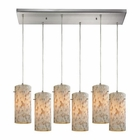 ELK Capri 6 Light Pendant in Satin Nickel EK-10442-6RC