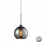 ELK Cassandra 1 Light Pendant in Polished Chromewith Adapter Kit EK-10240-1CHR-LA