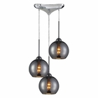 ELK Cassandra 3 Light Pendant in Polished Chrome EK-10240-3CHR