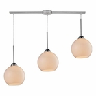 ELK Cassandra 3 Light Pendant in Polished Chrome EK-10240-3L-WH