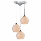 ELK Cassandra 3 Light Pendant in Polished Chrome EK-10240-3WH