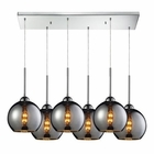ELK Cassandra 6 Light Pendant in Polished Chrome EK-10240-6RC-CHR