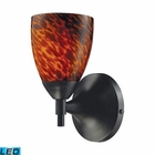 ELK Celina 1-Light Sconce in Dark Rust and Espresso Glass - Led EK-10150-1DR-ES-LED