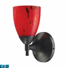 ELK Celina 1-Light Sconce in Dark Rust and Fire Red Glass  - Led EK-10150-1DR-FR-LED