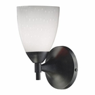 ELK Celina 1-Light Sconce in Dark Rust and Simple White Glass EK-10150-1DR-WH