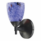 ELK Celina 1-Light Sconce in Dark Rust and Starburst Blue Glass EK-10150-1DR-BL