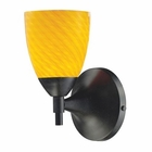 ELK Celina 1-Light Sconce in Dark Rust With Canary Glass EK-10150-1DR-CN