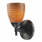 ELK Celina 1-Light Sconce in Dark Rust With Coco Glass EK-10150-1DR-C