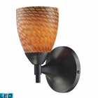 ELK Celina 1-Light Sconce in Dark Rust With Coco Glass - Led EK-10150-1DR-C-LED