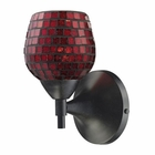 ELK Celina 1-Light Sconce in Dark Rust With Copper Glass EK-10150-1DR-CPR
