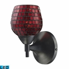 ELK Celina 1-Light Sconce in Dark Rust With Copper Glass - Led EK-10150-1DR-CPR-LED