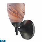 ELK Celina 1-Light Sconce in Dark Rust With Creme Glass - Led EK-10150-1DR-CR-LED