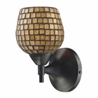 ELK Celina 1-Light Sconce in Dark Rust With Gold Glass EK-10150-1DR-GLD