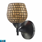 ELK Celina 1-Light Sconce in Dark Rust With Gold Glass - Led EK-10150-1DR-GLD-LED
