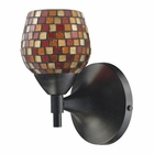 ELK Celina 1-Light Sconce in Dark Rust With Multi Fusion Glass EK-10150-1DR-MLT