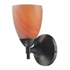 ELK Celina 1-Light Sconce in Dark Rust With Sandy Glass EK-10150-1DR-SY