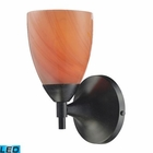 ELK Celina 1-Light Sconce in Dark Rust With Sandy Glass - Led EK-10150-1DR-SY-LED