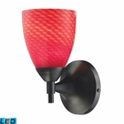 ELK Celina 1-Light Sconce in Dark Rust With Scarlet Red Glass - Led EK-10150-1DR-SC-LED