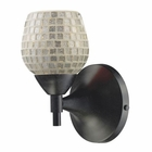 ELK Celina 1-Light Sconce in Dark Rust With Silver Glass EK-10150-1DR-SLV