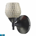 ELK Celina 1-Light Sconce in Dark Rust With Silver Glass - Led EK-10150-1DR-SLV-LED