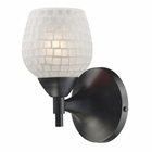 ELK Celina 1-Light Sconce in Dark Rust With White Glass EK-10150-1DR-WHT
