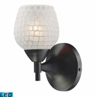 ELK Celina 1-Light Sconce in Dark Rust With White Glass - Led EK-10150-1DR-WHT-LED