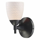 ELK Celina 1-Light Sconce in Dark Rust With White Swirl Glass EK-10150-1DR-WS