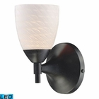 ELK Celina 1-Light Sconce in Dark Rust With White Swirl Glass - Led EK-10150-1DR-WS-LED
