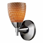 ELK Celina 1-Light Sconce in Polished Chrome and Coco Glass EK-10150-1PC-C