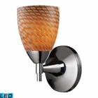 ELK Celina 1-Light Sconce in Polished Chrome and Coco Glass - Led EK-10150-1PC-C-LED