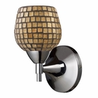 ELK Celina 1-Light Sconce in Polished Chrome and Gold Glass EK-10150-1PC-GLD