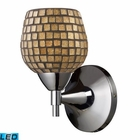 ELK Celina 1-Light Sconce in Polished Chrome and Gold Glass - Led EK-10150-1PC-GLD-LED
