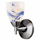 ELK Celina 1-Light Sconce in Polished Chrome and Mountain Glass EK-10150-1PC-MT