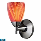 ELK Celina 1-Light Sconce in Polished Chrome and Multi Glass - Led EK-10150-1PC-M-LED