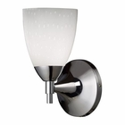 ELK Celina 1-Light Sconce in Polished Chrome and Simple White Glass EK-10150-1PC-WH