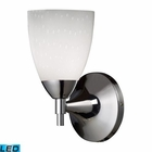 ELK Celina 1-Light Sconce in Polished Chrome and Simple White Glass - Led EK-10150-1PC-WH-LED