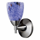 ELK Celina 1-Light Sconce in Polished Chrome and Starburst Blue Glass EK-10150-1PC-BL