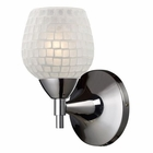 ELK Celina 1-Light Sconce in Polished Chrome and White Glass EK-10150-1PC-WHT
