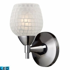 ELK Celina 1-Light Sconce in Polished Chrome and White Glass - Led EK-10150-1PC-WHT-LED