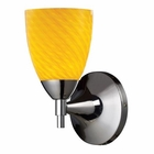 ELK Celina 1-Light Sconce in Polished Chrome With Canary Glass EK-10150-1PC-CN