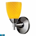 ELK Celina 1-Light Sconce in Polished Chrome With Canary Glass - Led EK-10150-1PC-CN-LED