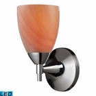 ELK Celina 1-Light Sconce in Polished Chrome With Sandy Glass - Led EK-10150-1PC-SY-LED