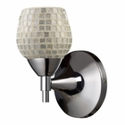 ELK Celina 1-Light Sconce in Polished Chrome With Silver Glass EK-10150-1PC-SLV
