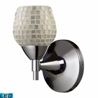 ELK Celina 1-Light Sconce in Polished Chrome With Silver Glass - Led EK-10150-1PC-SLV-LED