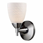 ELK Celina 1-Light Sconce in Polished Chrome With White Swirl Glass EK-10150-1PC-WS