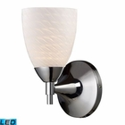 ELK Celina 1-Light Sconce in Polished Chrome With White Swirl Glass - Led EK-10150-1PC-WS-LED