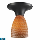ELK Celina 1-Light Semi-Flush in Dark Rust and Coco Glass - Led EK-10152-1DR-C-LED