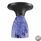 ELK Celina 1-Light Semi-Flush in Dark Rust and Starburst Blue Glass With Adapter Kit EK-10152-1DR-BL-LA