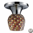 ELK Celina 1-Light Semi-Flush in Polished Chrome and Multi Fusion Glass With Adapter Kit EK-10152-1PC-MLT-LA