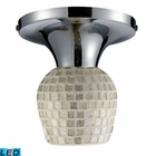 ELK Celina 1-Light Semi-Flush in Polished Chrome and Silver - Led EK-10152-1PC-SLV-LED